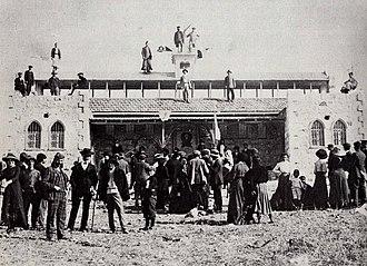 Ben Shemen - Bezalel workshop at Ben Shemen, 1911