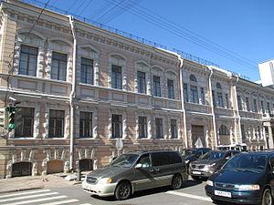 Alexander Bezborodko - Bezborodko Palace in Saint Petersburg - southern façade (Pochtamskaya ulitsa) (summer 2015)