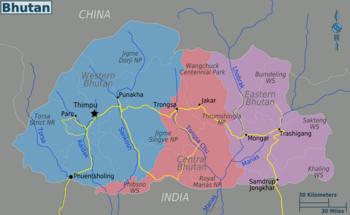Carte Asie Bhoutan.Bhoutan Wikivoyage Le Guide De Voyage Et De Tourisme