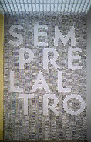 Motto of the the Biennale di Venezia 1997.