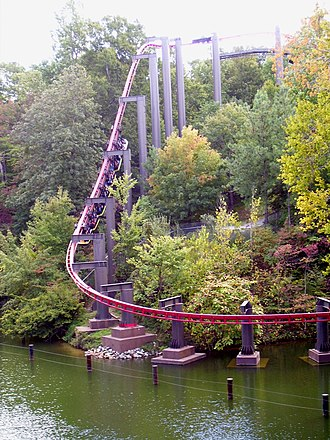 Suspended roller coaster - A former Arrow Huss suspended roller coaster, Big Bad Wolf at Busch Gardens Williamsburg