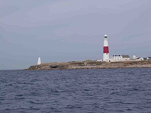 Portland Bill Lighthouse - Portland Bill Lighthouse and the surrounding area from the sea