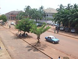Downtown Bissau as seen from Pensão Central