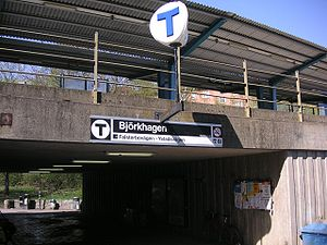 Björkhagen metro station
