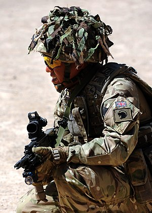 4th Infantry Brigade and Headquarters North East - A soldier with the 4th Mechanized Brigade in Afghanistan.
