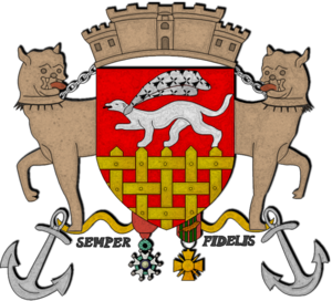 Semper fidelis - Modern arms of St. Malo, showing the motto
