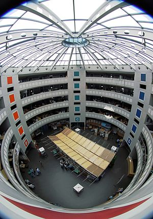 English: Cern office building 40, photographed...