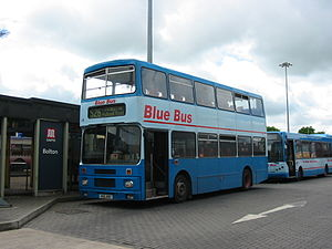 Blue Bus and Coach Services - Alexander bodied Volvo Citybus at Bolton bus station in May 2004