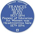 Blue plaque re Frances Mary Buss - geograph.org.uk - 1404455 (retouched).jpg