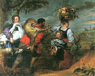 Jan Boeckhorst - Peasants on their way to the market