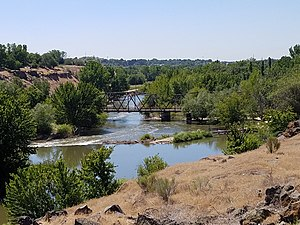Boise River and Canal Bridge in Caldwell