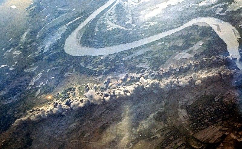 Bombs from B-52 Arc Light strike exploding.jpg