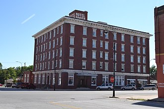 National Register of Historic Places listings in Montgomery County, Kansas - Image: Booth Hotel, Independence, KS