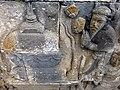 Borobudur - Divyavadana - 085 N, A Stupa is raised over Ven Mahakatyayana's Staff (detail 2) (11705983203).jpg