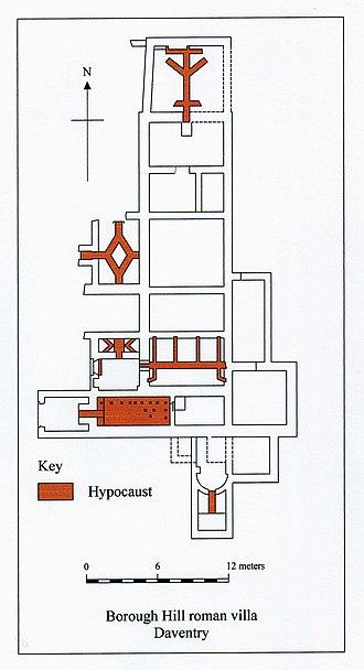 Borough Hill Roman villa - Plan of Borough Hill Roman villa