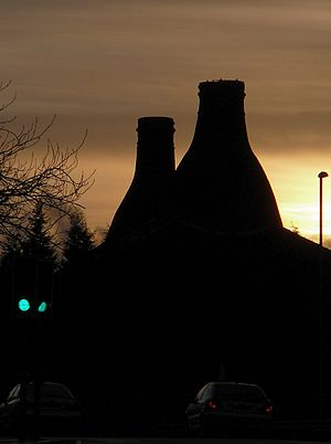 Potteries derby - Image: Bottle kiln, Longton, Stoke on Trent