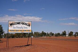 Boulia, Queensland - Entry into Boulia