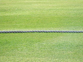 Boundary (cricket) - A traditional boundary rope