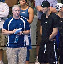 Phelps con il suo allenatore Bob Bowman.