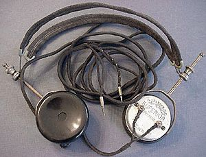 English: Photo of antique headphones; Brandes ...