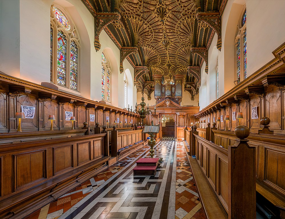 A l'intérieur de la chapelle du Brasenose College de l'université d'Oxford en Angleterre. Photo by DAVID ILIFF. License: CC-BY-SA 3.0