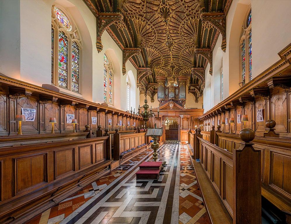 A l'intérieur de la chapelle du Brasenose College de l'université d'Oxford en Angleterre. Photo by DAVID ILIFF. License: CC-BY-SA 3.0