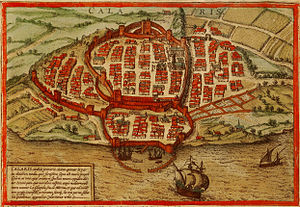 "Sardinian people - View of Cagliari from "" Civitates orbis terrarum"" (1572)"
