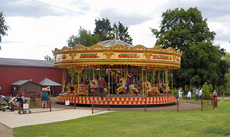 Bressingham Steam and Gardens - The carousel in the gardens
