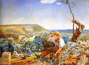 The Stonebreaker - John Brett's painting portrayed the same subject the following year