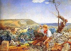 The Stonebreaker - John Brett's painting portrayed the same subject the following year