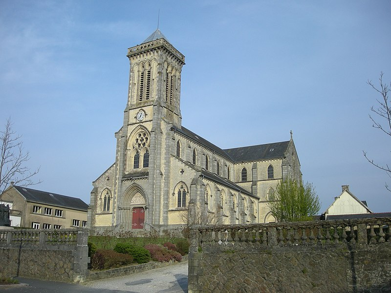 Eglise de Bricquebec (Manche, Normandie, France)