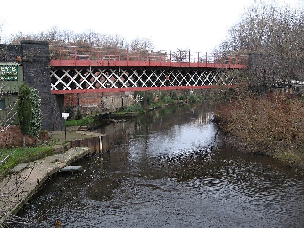 Brightside - railway bridge over River Don