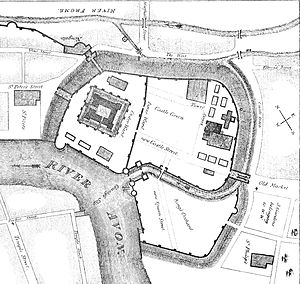 Bristol Castle - Plan of Bristol Castle