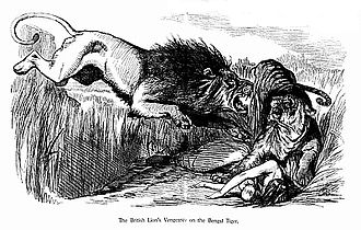 John Tenniel - The British Lion's Vengeance... in the aftermath of the Indian Rebellion of 1857
