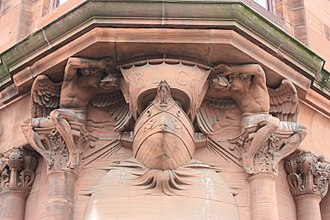 British Linen Bank - British Linen Company carving in Govan