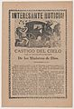 Broadsheet relating to the story of a falling meteor that was interpreted by Catholics as God's punishment to the people of the town of Alamos for their poor reception of Bishop Pedro Moreno MET DP867943.jpg