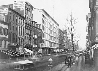 Broadway (Manhattan) - Looking north from Broome Street (circa 1853-55)