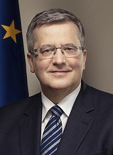 Bronisław Komorowski Polish politician; President of Poland (2010-2015)