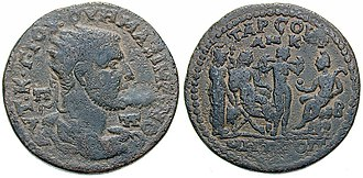 Roman provincial currency - Image: Bronze Maximinus I Paris Tarsos AE36 SNG Fr 1587