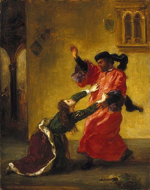 Desdemona Cursed by her Father (Desdemona maudite par son père) - Eugène Delacroix