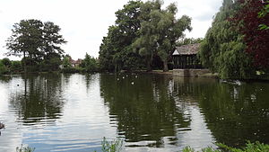 Broomfield Park, Palmers Green - One of the Broomfield Park lakes