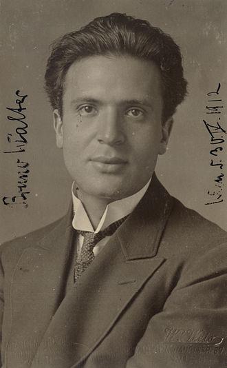 Bruno Walter - Image: Bruno Walter Wien 1912