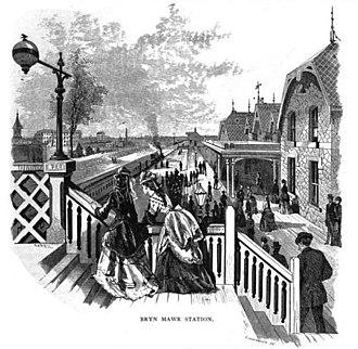 Bryn Mawr station (SEPTA Regional Rail) - Image: Bryn Mawr Station 1875