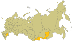 Buddhism in Russia - Areas in Russia with large Buddhist populations.