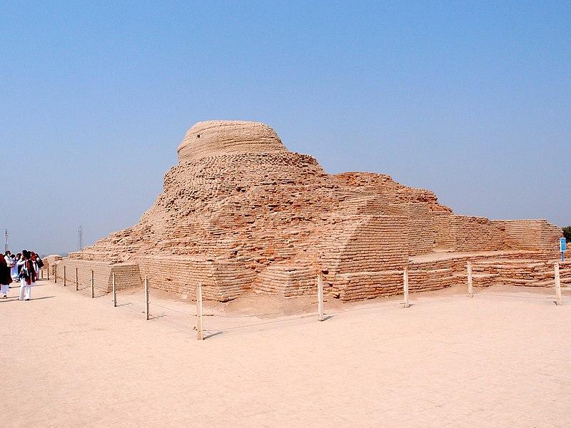 File:Buddhist stupa, Mohenjo-daro.JPG