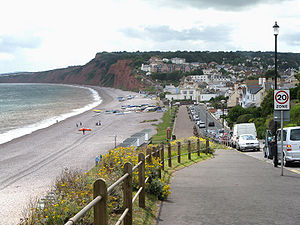 Budleigh Salterton - Image: Budleigh salterton in south devon looking west arp