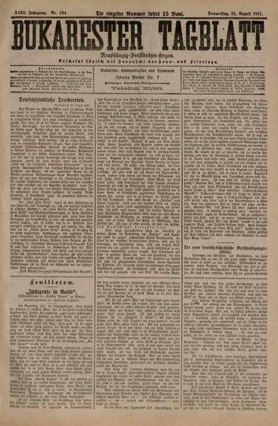 File:Bukarester Tagblatt 1911-08-31, nr. 194.pdf