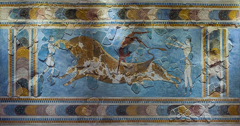 File:Bull leaping minoan fresco archmus Heraklion (cropped).jpg