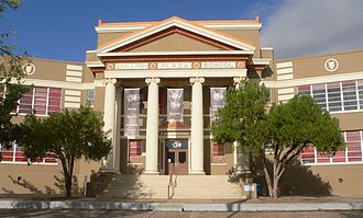 Miami, Arizona - Bullion Plaza Museum, listed on the National Register of Historic Places