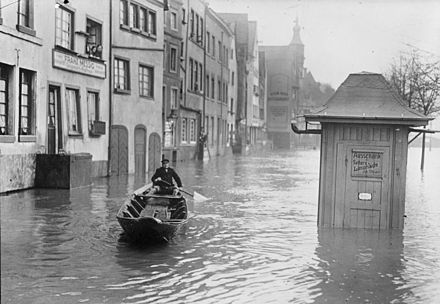 The 1930 flood in Cologne